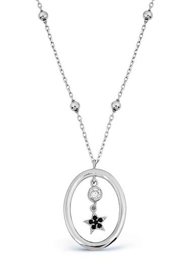 Argentum Concept Argentum Concept 925 Ayar Yıldız Sallantılı Silver Kadın Kolye Gümüş